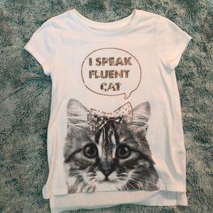 Girls cat shirt